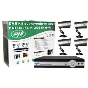 Kit DVR cu 4 Camere PNI House PTZ04, HDD inclus