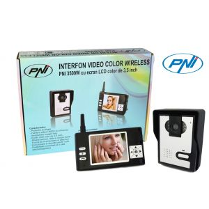 "Video Interfon Wireless PNI 3509W, LCD de 3.5"" Color"