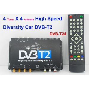 Tuner TV auto Digital DVB-T2 cu 4 antene si cu usb media player