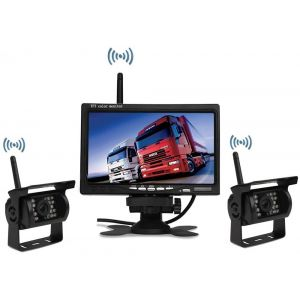 "Kit Marsarier Wireless cu 2 Camere si Display de 7"" 12V~24V"