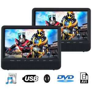TRAVELMATE 9+ SET MONITOARE TETIERA HD CU USB/SD/DVD